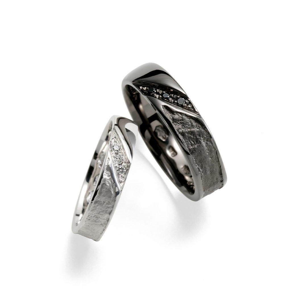 蛍灯 - Honoka - 葉漏陽 Hamorebi 結婚指輪 シンプル 個性派 ストレート プラチナ