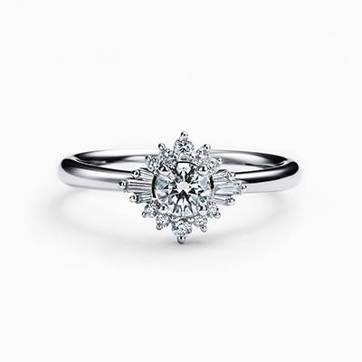 PLAGE 婚約指輪 シンプル ストレート エタニティ プラチナ