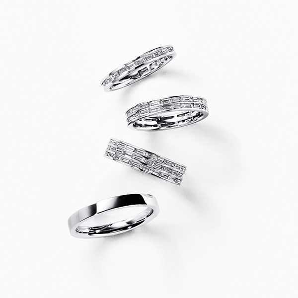 ARCOBALENO 結婚指輪 シンプル ストレート エタニティ プラチナ