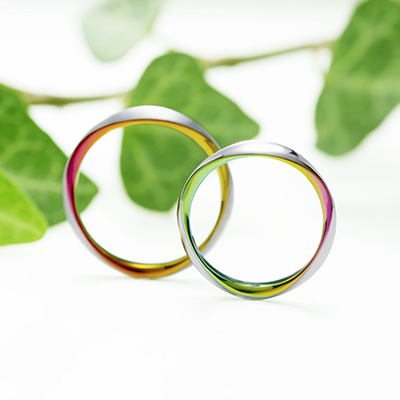 TRIOLET 結婚指輪 シンプル 個性派 ストレート ジルコニウム