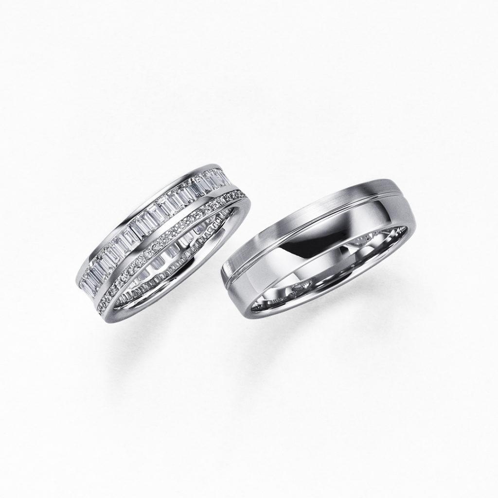 ORIZZONTE 結婚指輪 エレガント 幅広 プラチナ