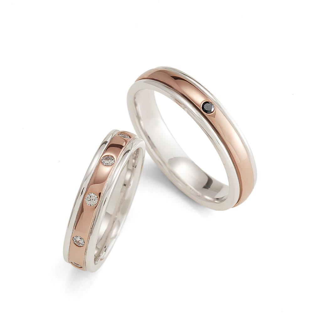 桜薫 - Haruka - 花雫 Hanashizuku 結婚指輪 シンプル エレガント 個性派 ストレート コンビ