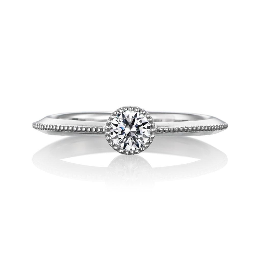 僕の自慢のお姫様 婚約指輪 エレガント アンティーク ストレート プラチナ