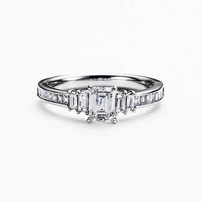CLARTE 婚約指輪 エレガント ストレート エタニティ プラチナ