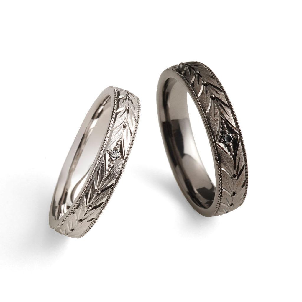 永遠 - Towa - 月桂双樹 Gekkeisoju 結婚指輪 エレガント ストレート プラチナ