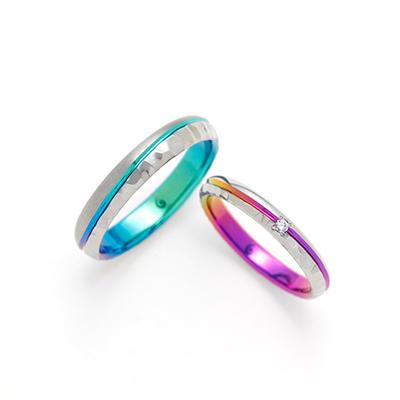 COAST 結婚指輪 シンプル 個性派  ジルコニウム