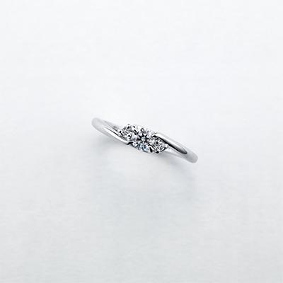 se serrer 婚約指輪 シンプル S字(ウェーブ) プラチナ