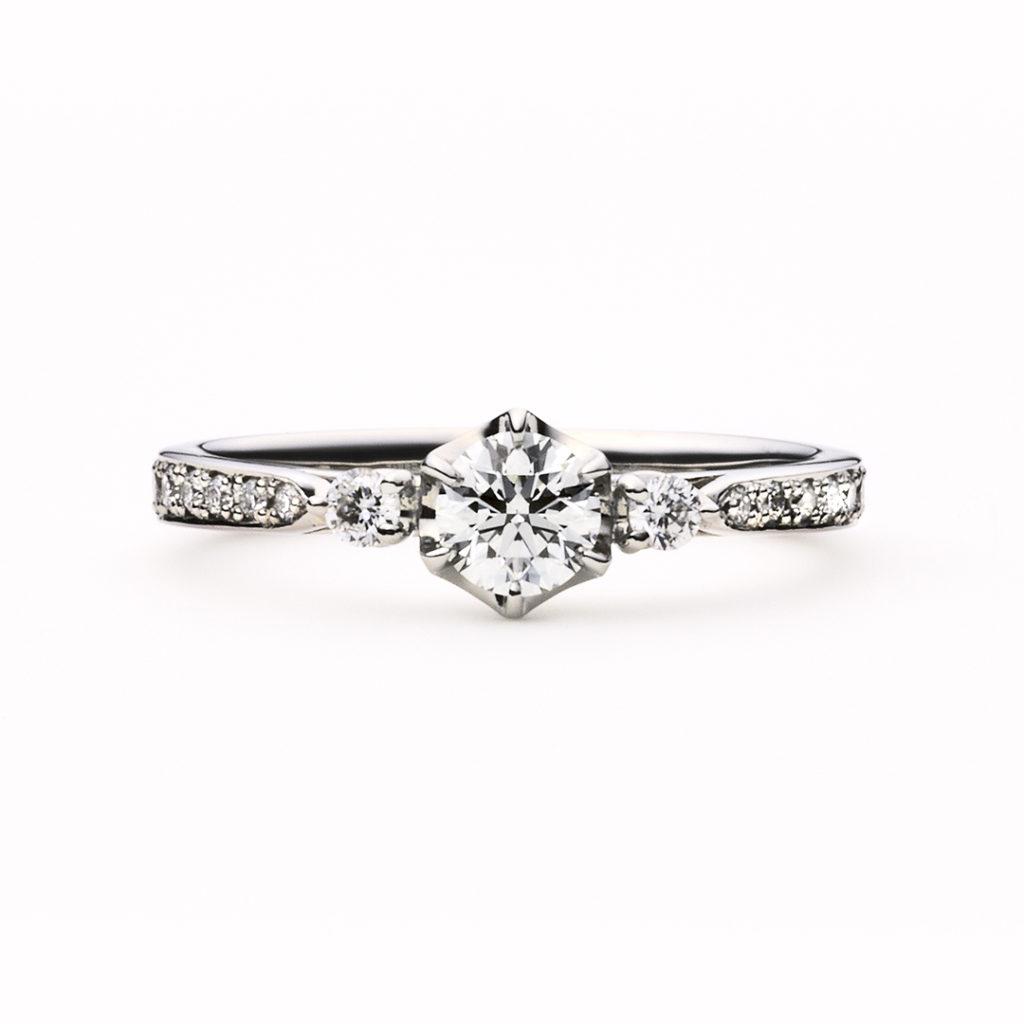 marron glacéⅡ 婚約指輪 エレガント ストレート プラチナ