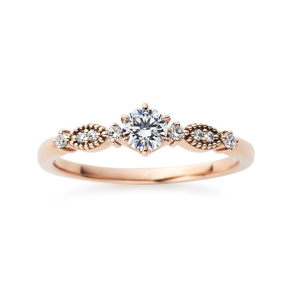 Sucre 婚約指輪 キュート ストレート ピンクゴールド
