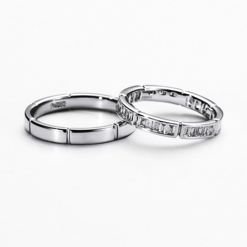 BRANCH 結婚指輪 シンプル ストレート エタニティ プラチナ