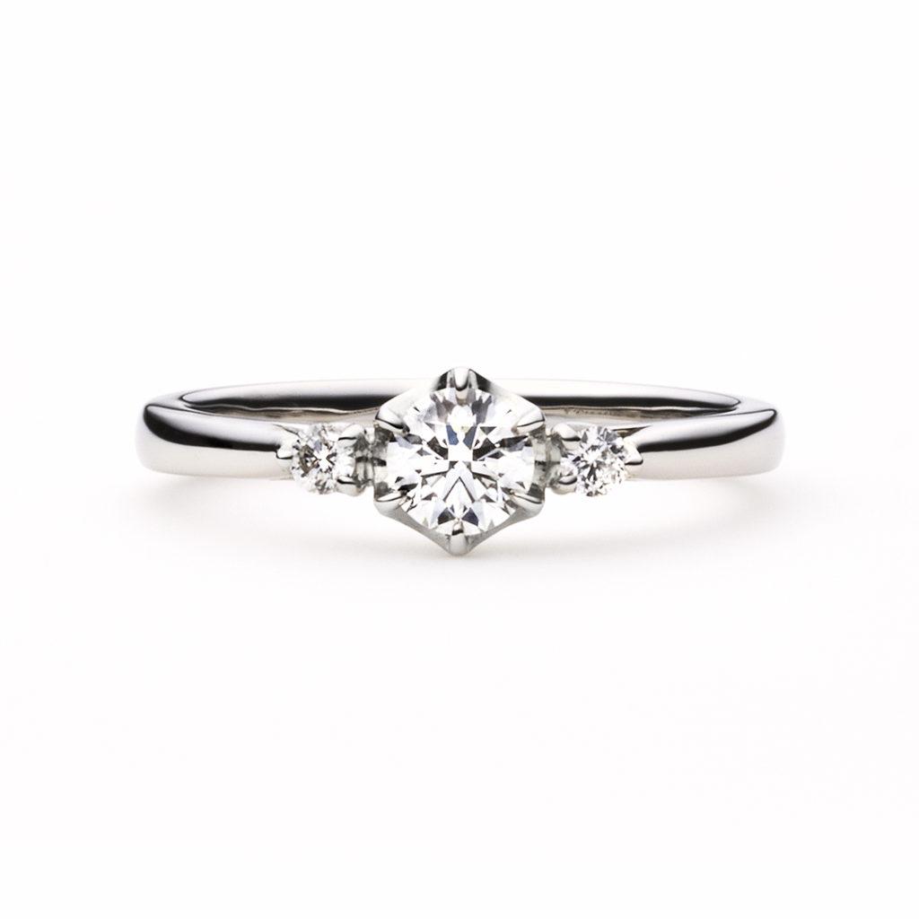 marron glacéⅠ 婚約指輪 エレガント ストレート プラチナ