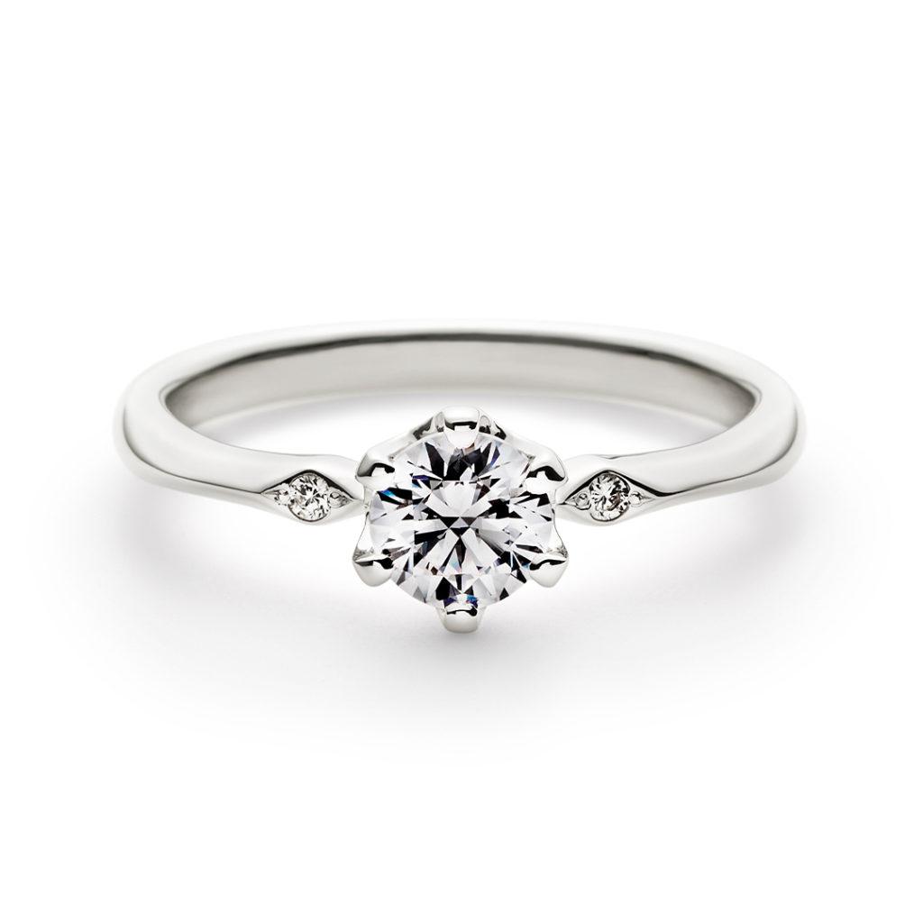 AIRE 婚約指輪 シンプル アンティーク 個性派 ストレート プラチナ