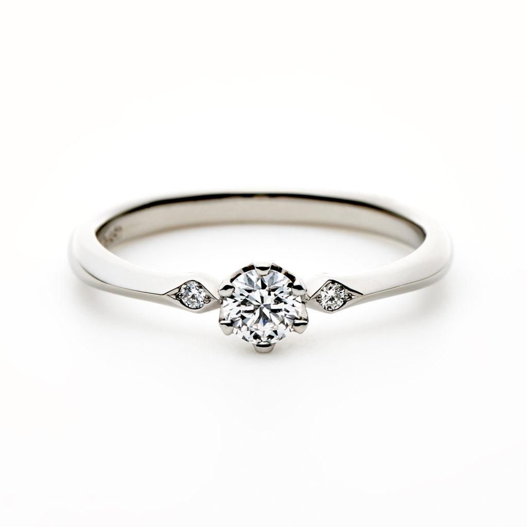 AIRE 婚約指輪 アンティーク ストレート プラチナ