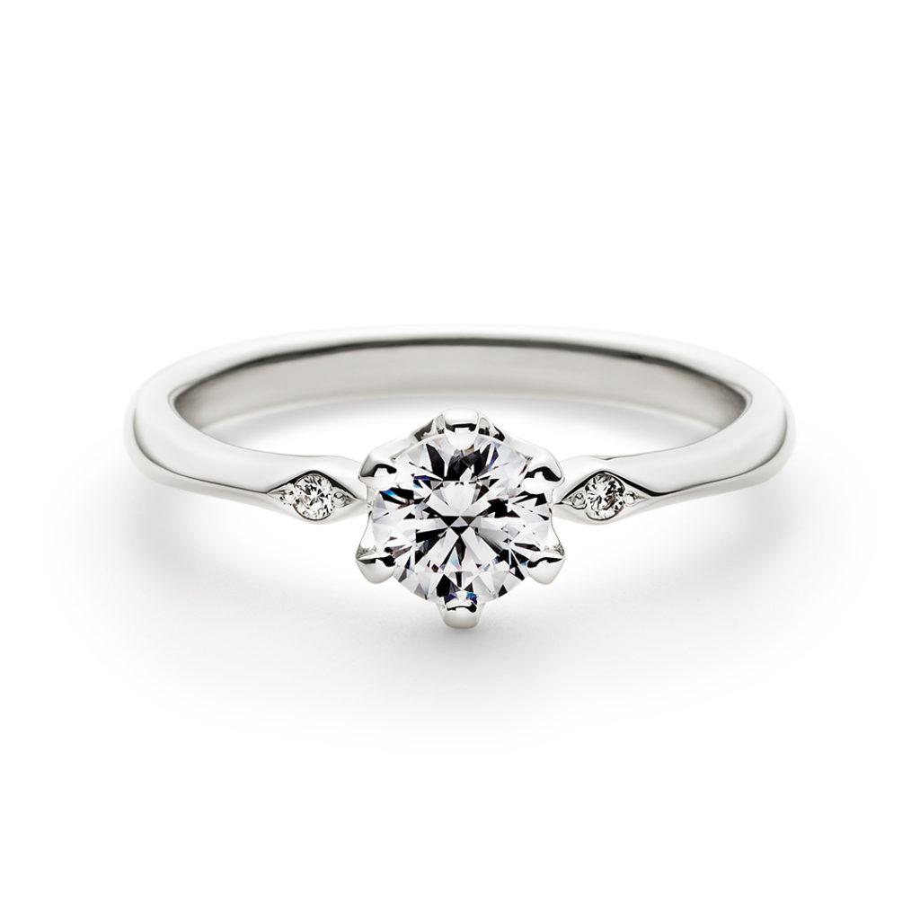 PORTADA 婚約指輪 シンプル アンティーク 個性派 ストレート プラチナ