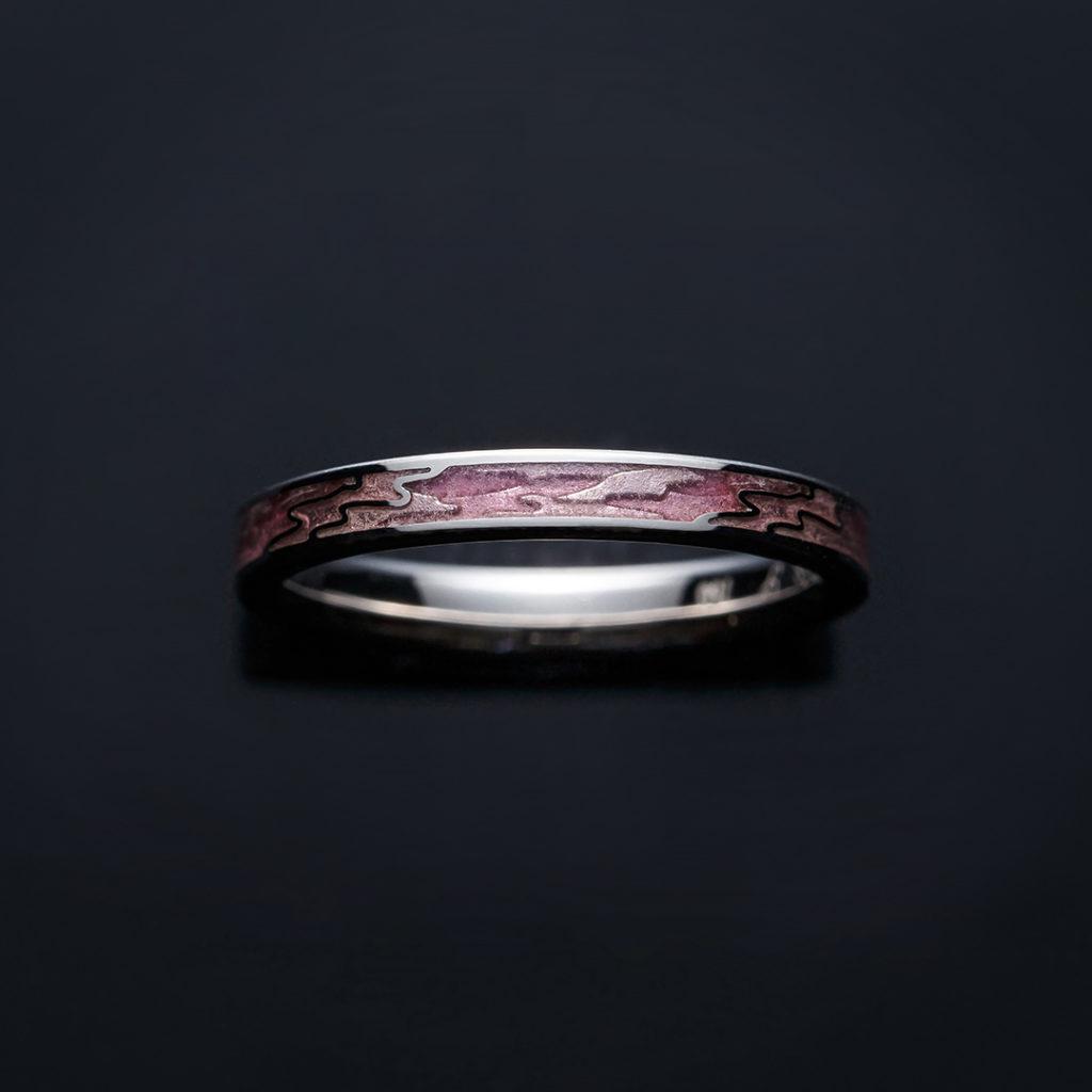 AKANE 結婚指輪 個性派 ストレート ホワイトゴールド