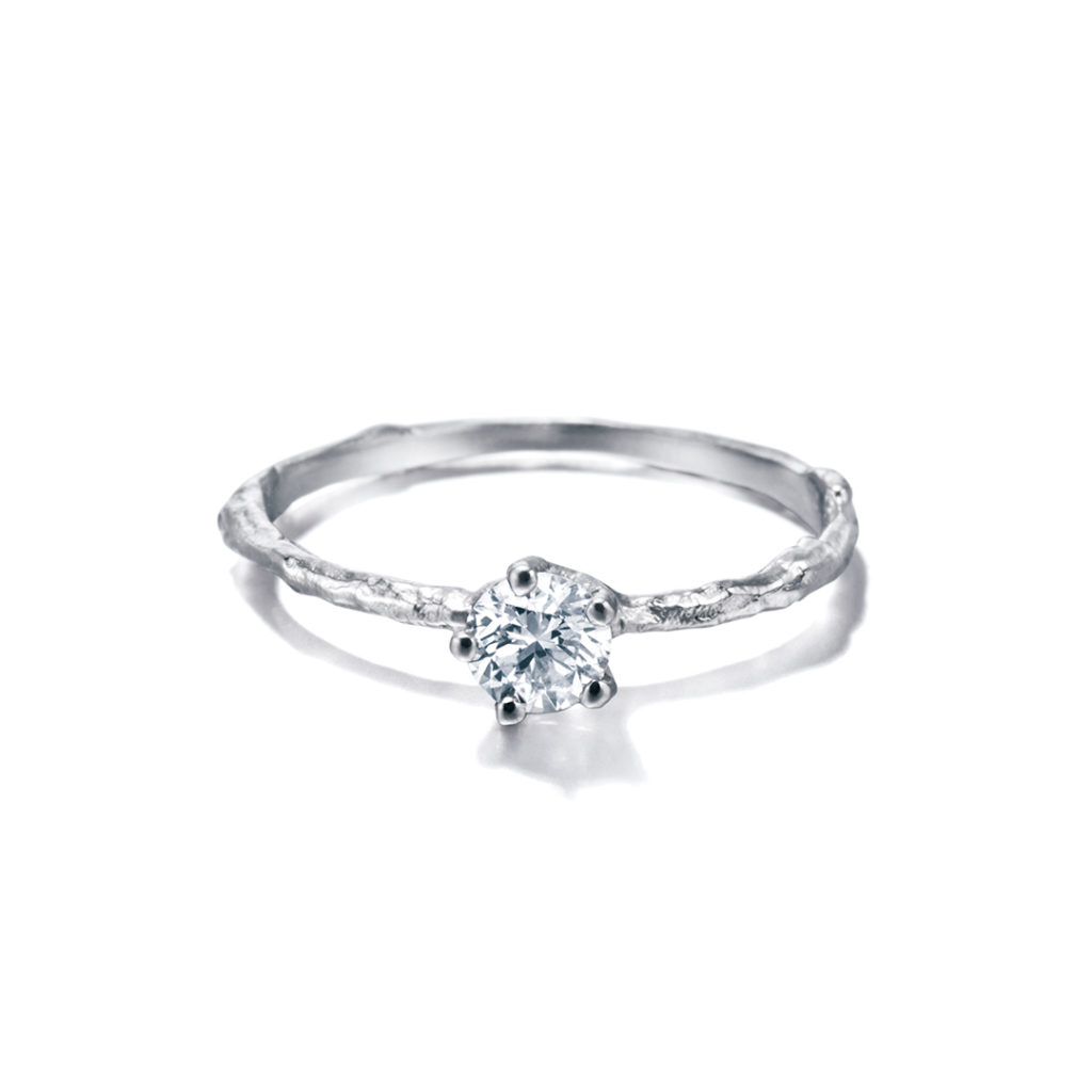 Alex Monroe 婚約指輪 アンティーク 個性派 ストレート プラチナ