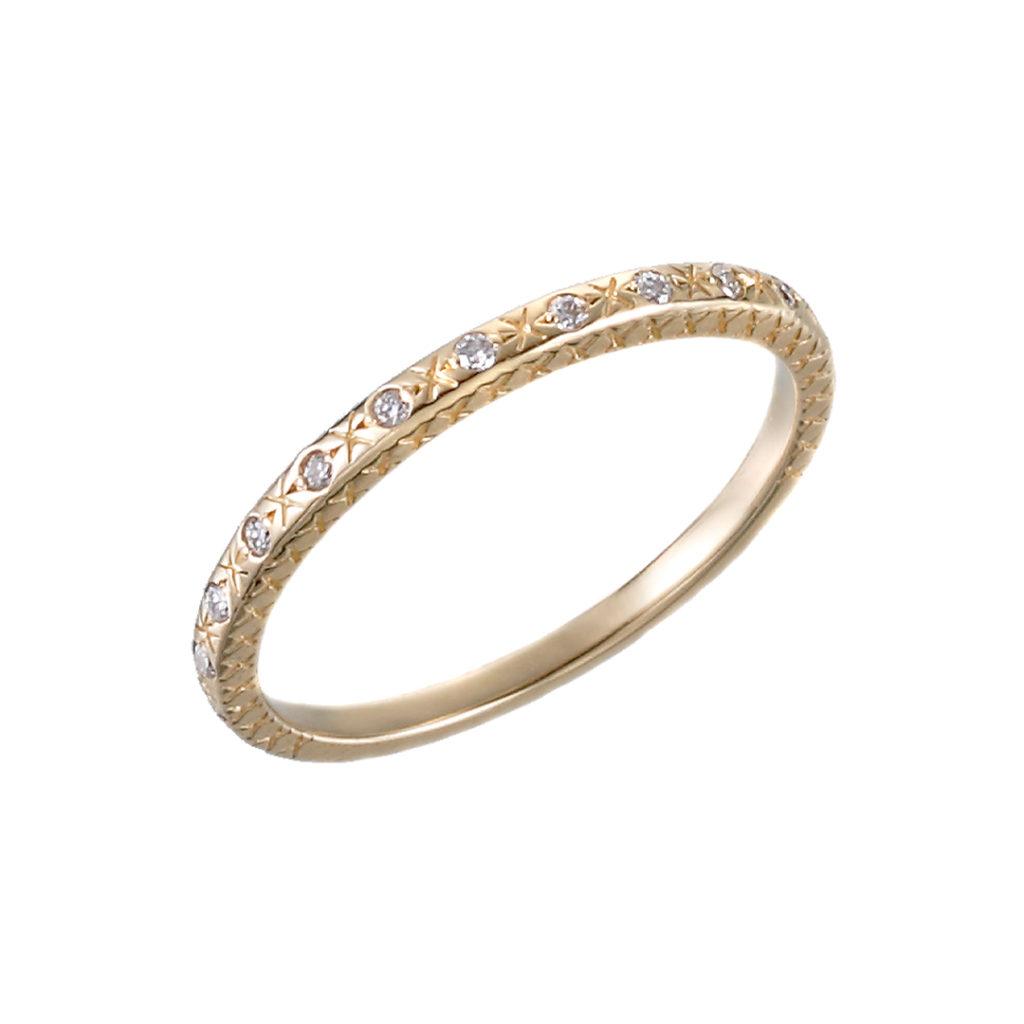 ATTACHER RING-アタシェ- 結婚指輪 アンティーク 個性派 ストレート イエローゴールド