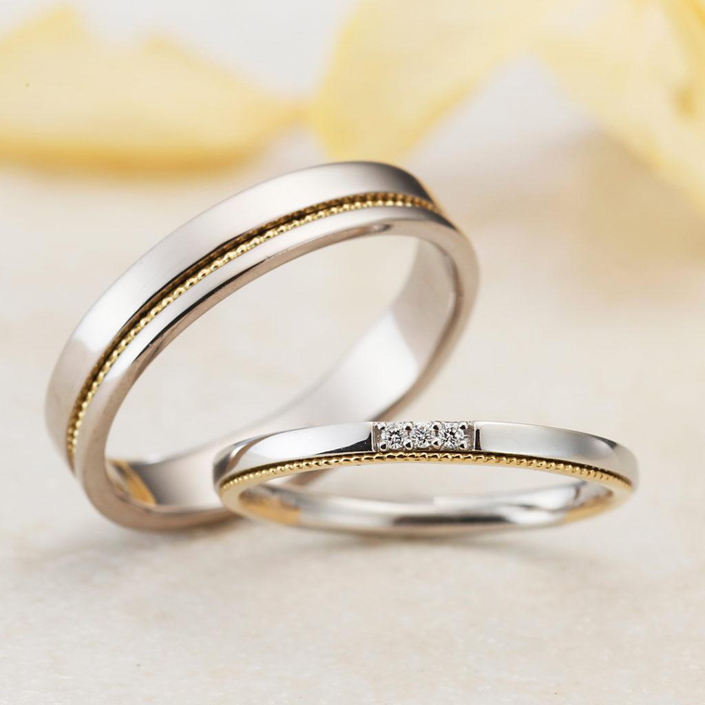 ATTACHE-アターシュ- 結婚指輪 アンティーク キュート ストレート コンビ