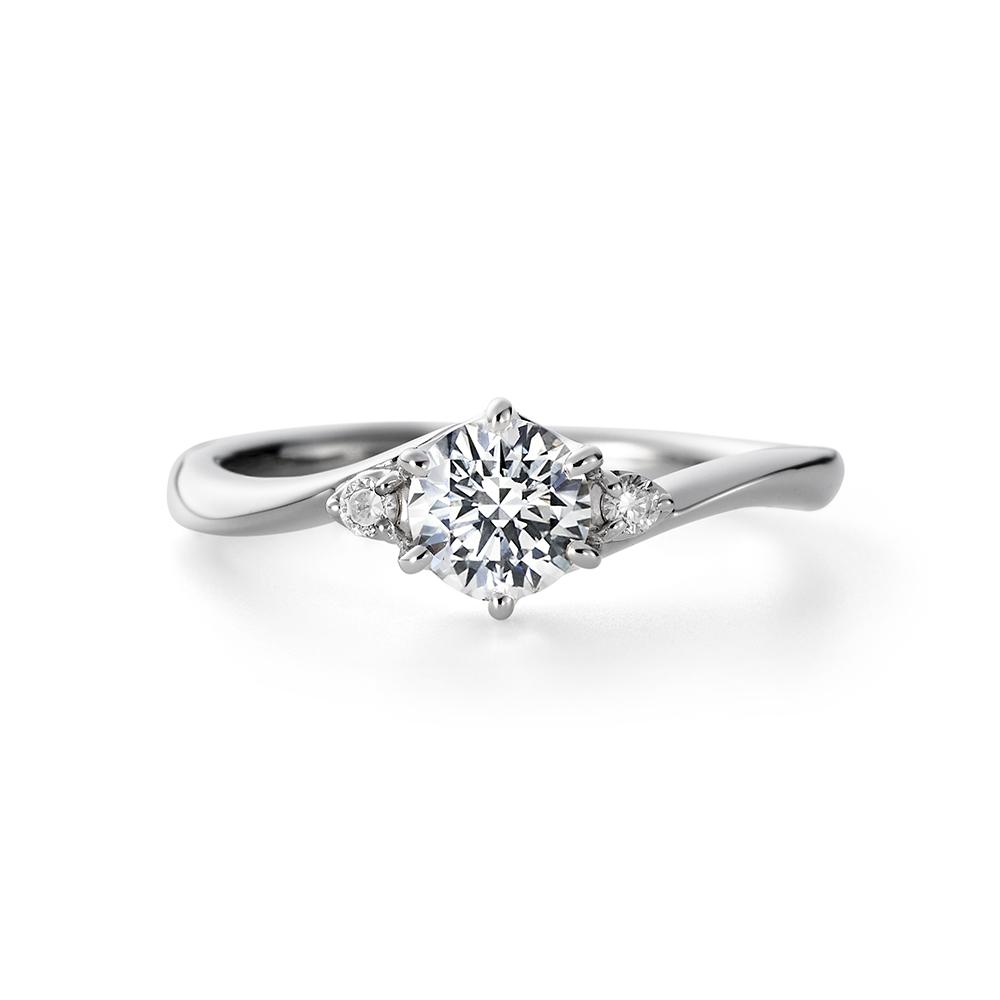 AYA 婚約指輪 シンプル S字(ウェーブ) プラチナ