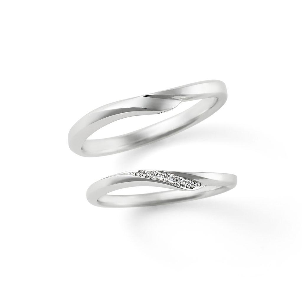 All my love 結婚指輪 シンプル ストレート S字(ウェーブ) プラチナ
