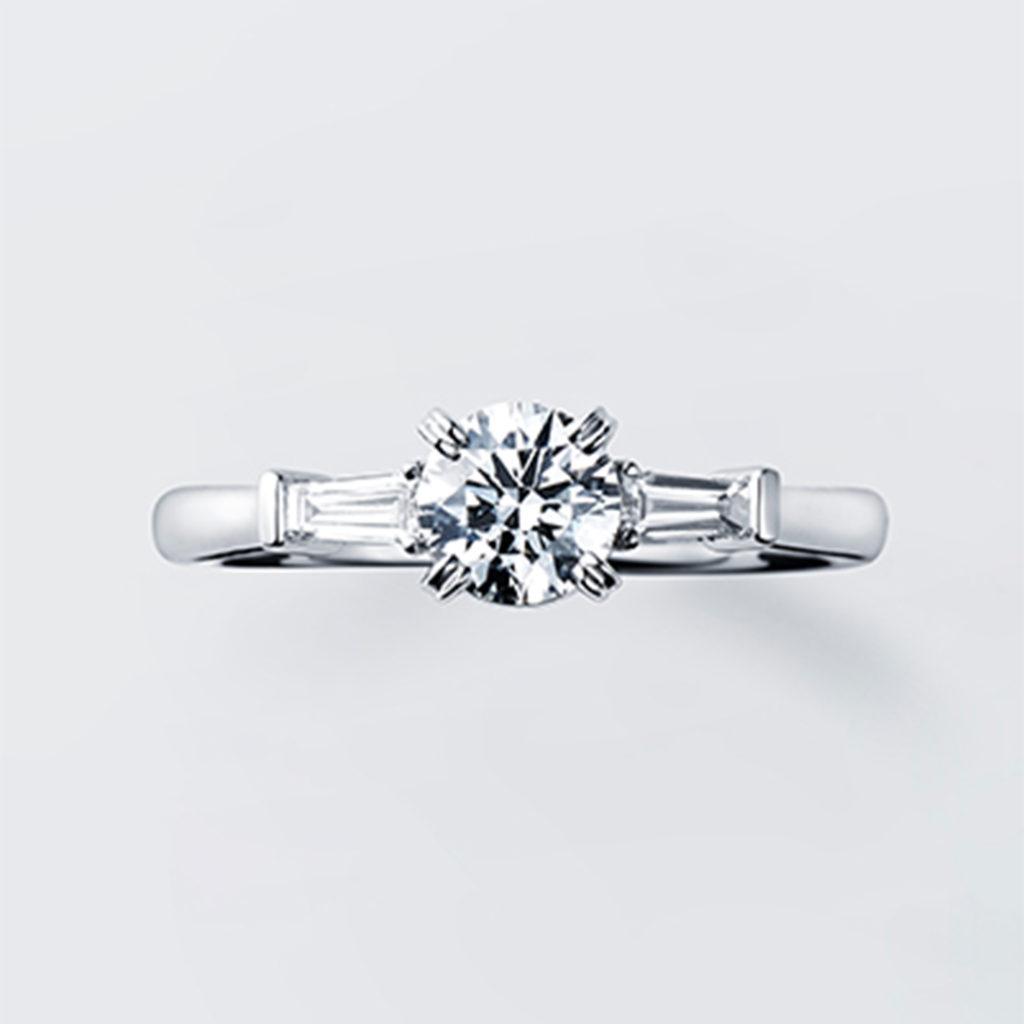 Amaryllis 婚約指輪 シンプル エレガント 個性派 ストレート プラチナ