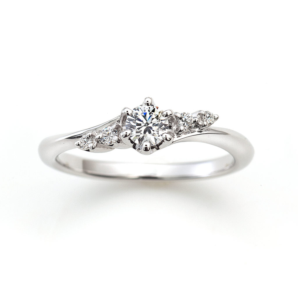 BOUQUET 婚約指輪 エレガント S字(ウェーブ) プラチナ