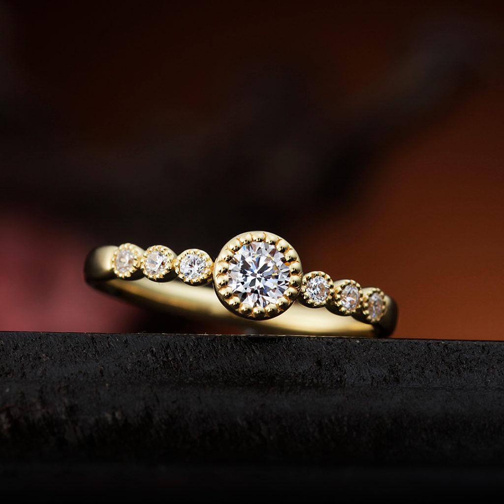 BOUVARDIA 婚約指輪 エレガント アンティーク ストレート エタニティ ピンクゴールド
