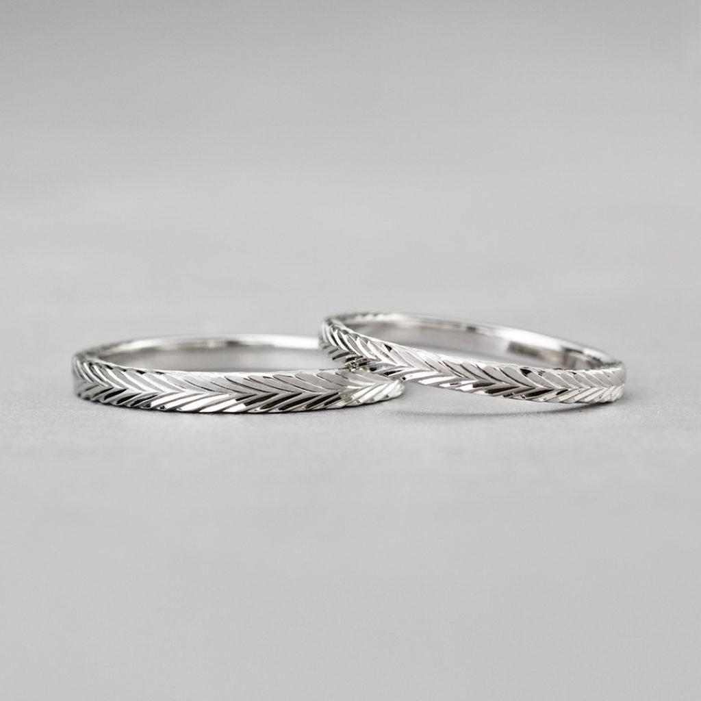 BR712A,BR712B 結婚指輪 シンプル アンティーク ストレート