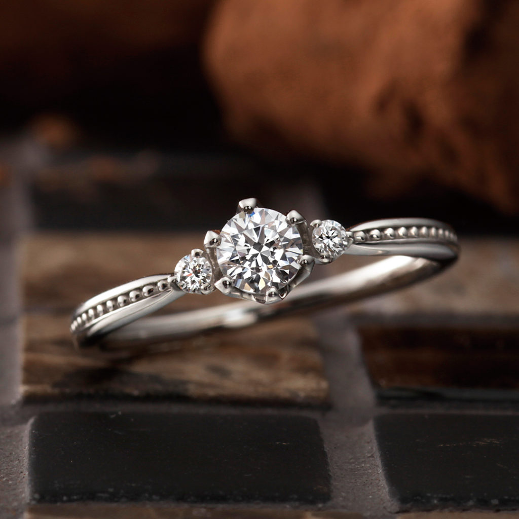 Blanche 婚約指輪 アンティーク ストレート プラチナ パラジウム