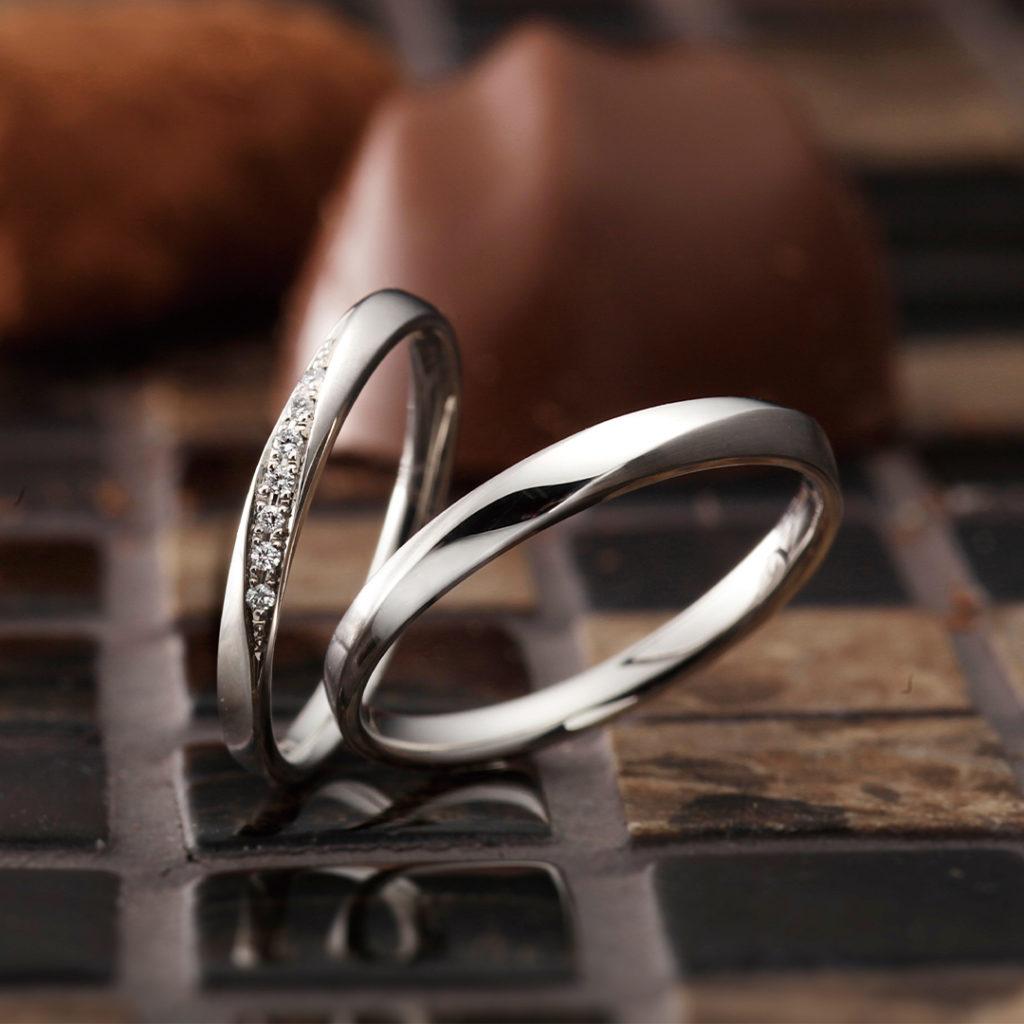 Brise 結婚指輪 シンプル ストレート プラチナ
