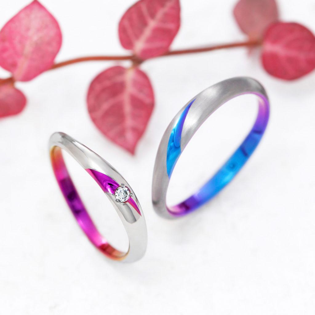CALLA 結婚指輪 シンプル 個性派 ストレート ジルコニウム