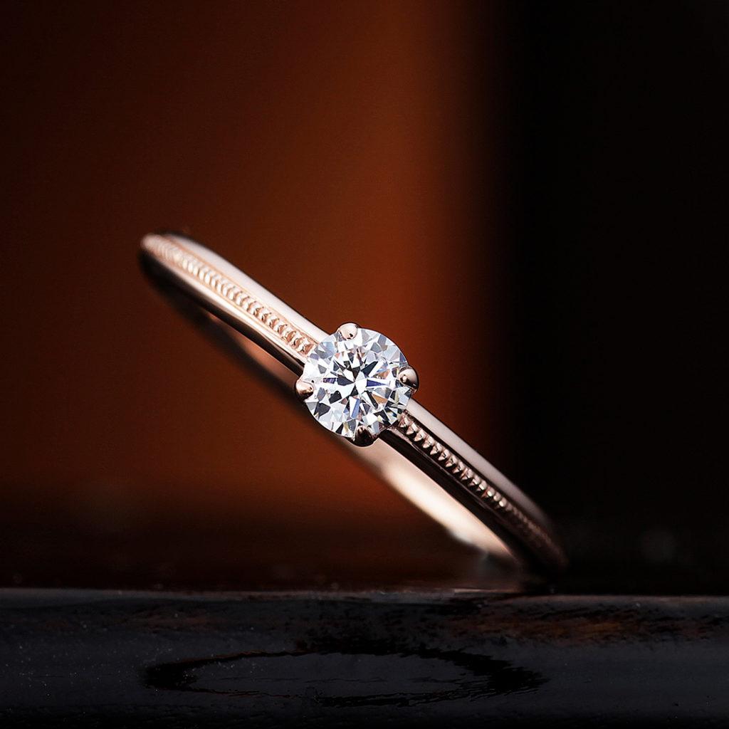 CAMPANULE 婚約指輪 アンティーク キュート ストレート ピンクゴールド
