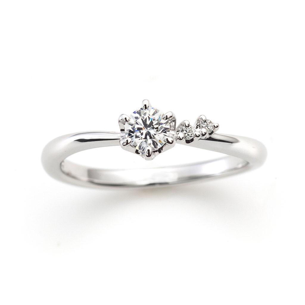 CHERISH 婚約指輪 キュート S字(ウェーブ) プラチナ