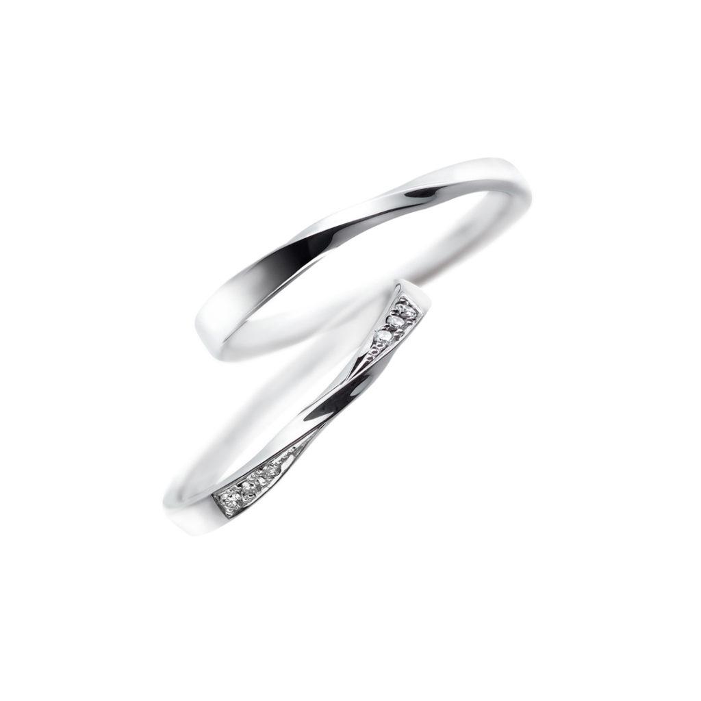 CN-045/CN-046 結婚指輪 エレガント S字(ウェーブ) プラチナ