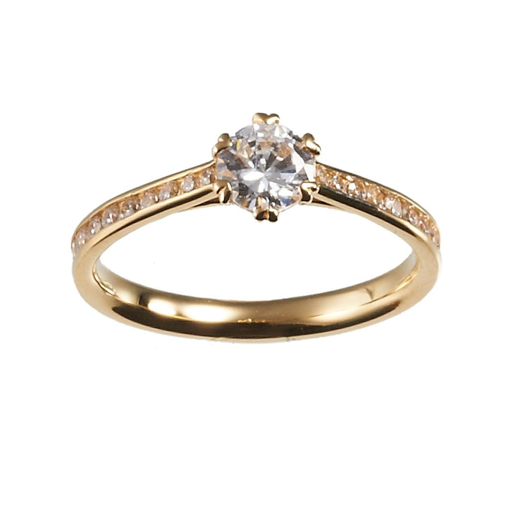 CONFESSE RING-コンフェス- 婚約指輪 エレガント 個性派 ストレート イエローゴールド
