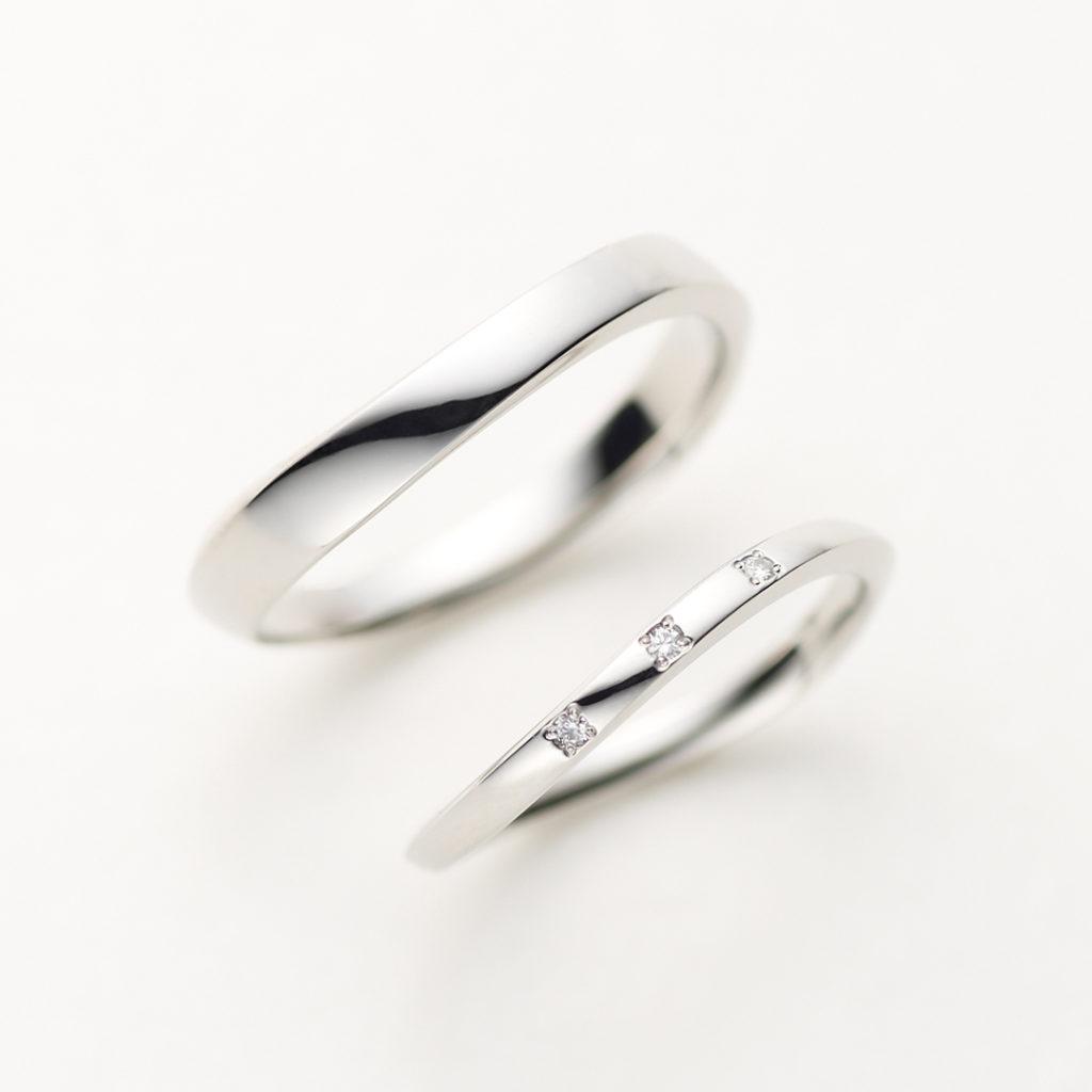 CONTRAIL 結婚指輪 シンプル S字(ウェーブ) プラチナ