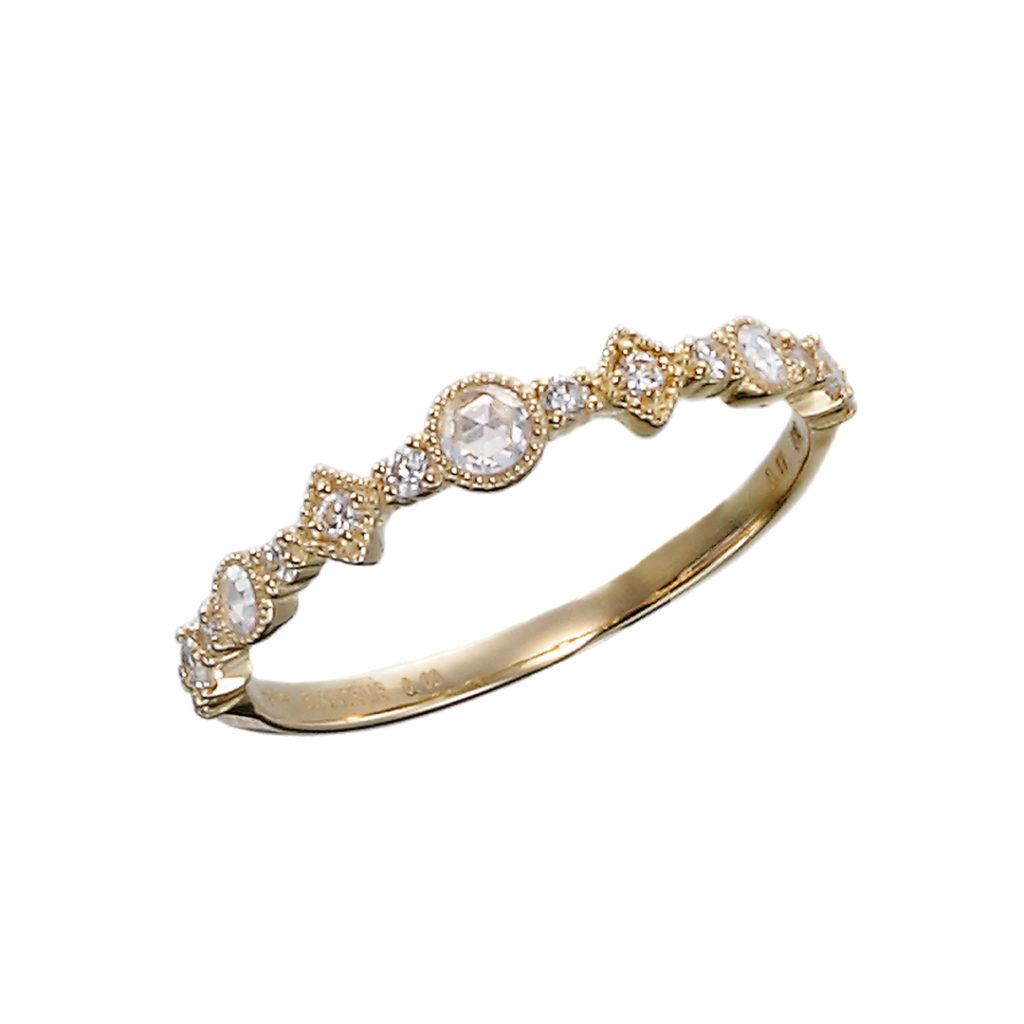 COROLLE RING-コロール- 結婚指輪 エレガント アンティーク 個性派 ストレート イエローゴールド