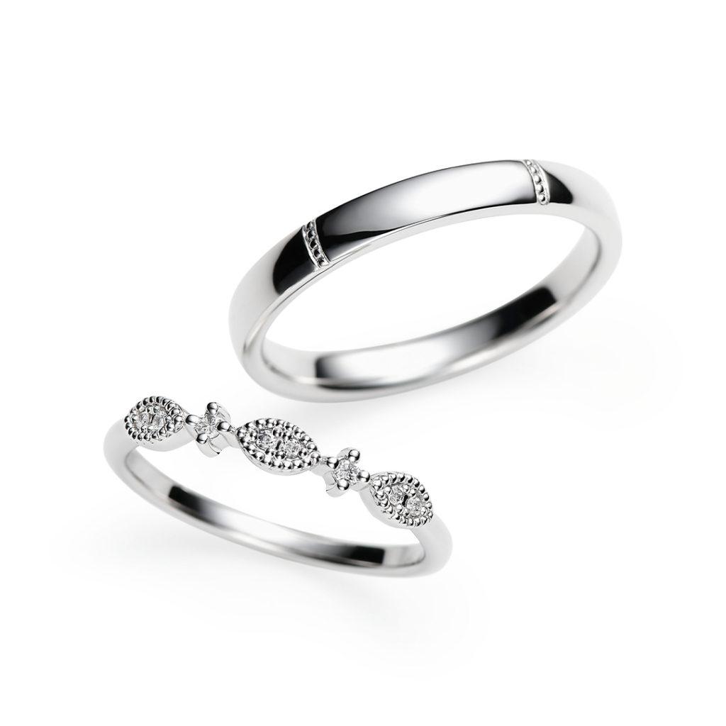 Clef 結婚指輪 アンティーク キュート ストレート プラチナ