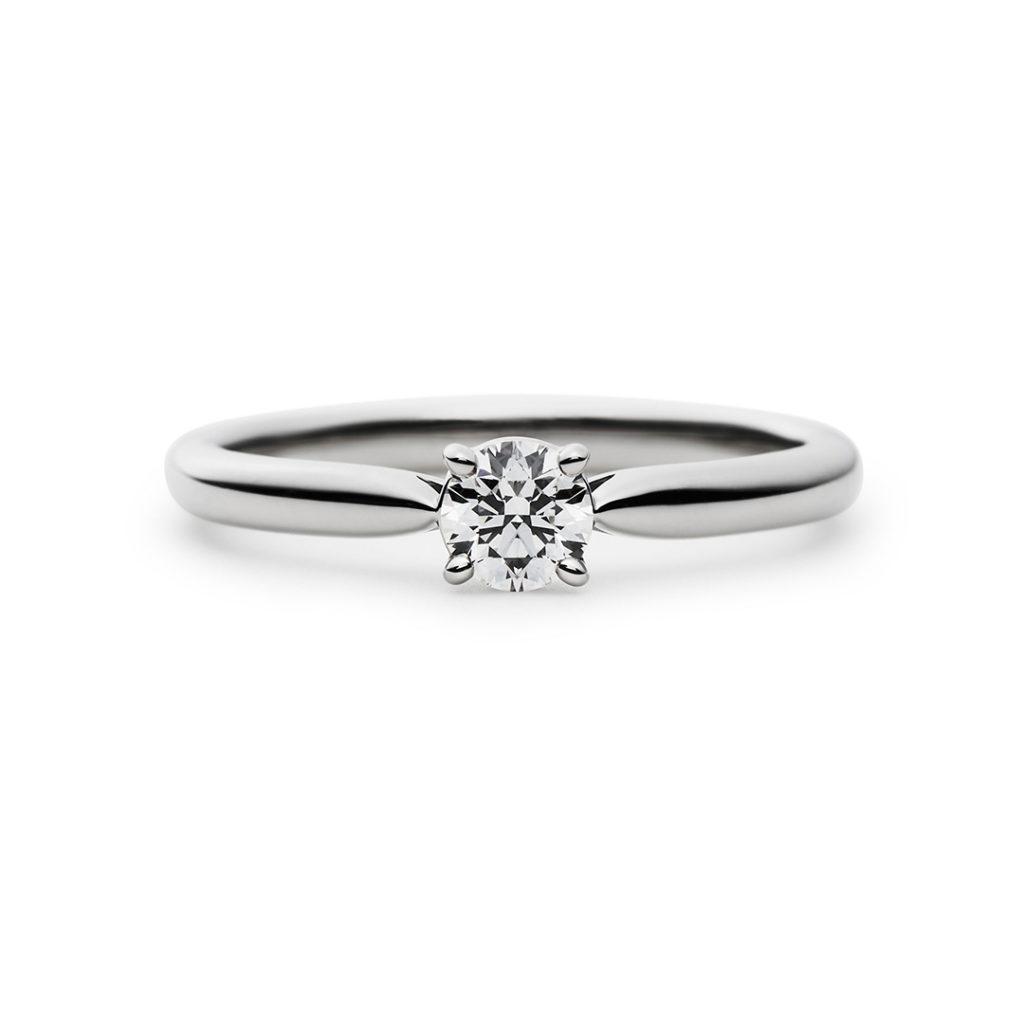 Clochette 婚約指輪 シンプル ストレート プラチナ