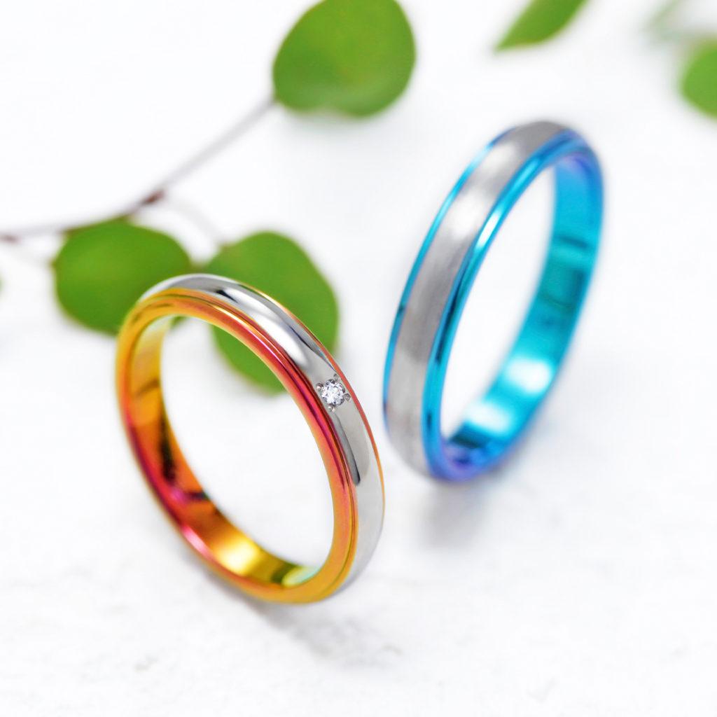 DOME 結婚指輪 シンプル 個性派 ストレート ジルコニウム