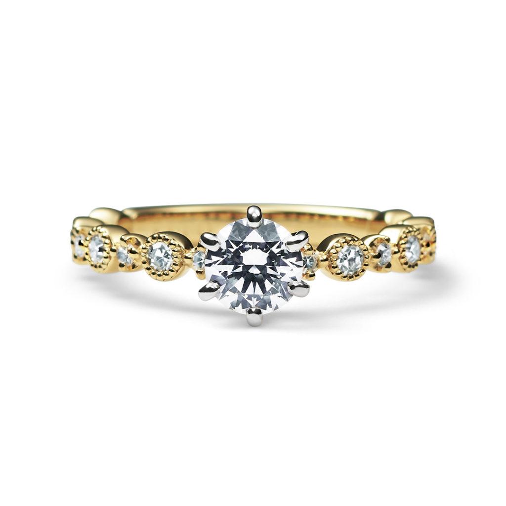 Daily 婚約指輪 個性派 ストレート イエローゴールド