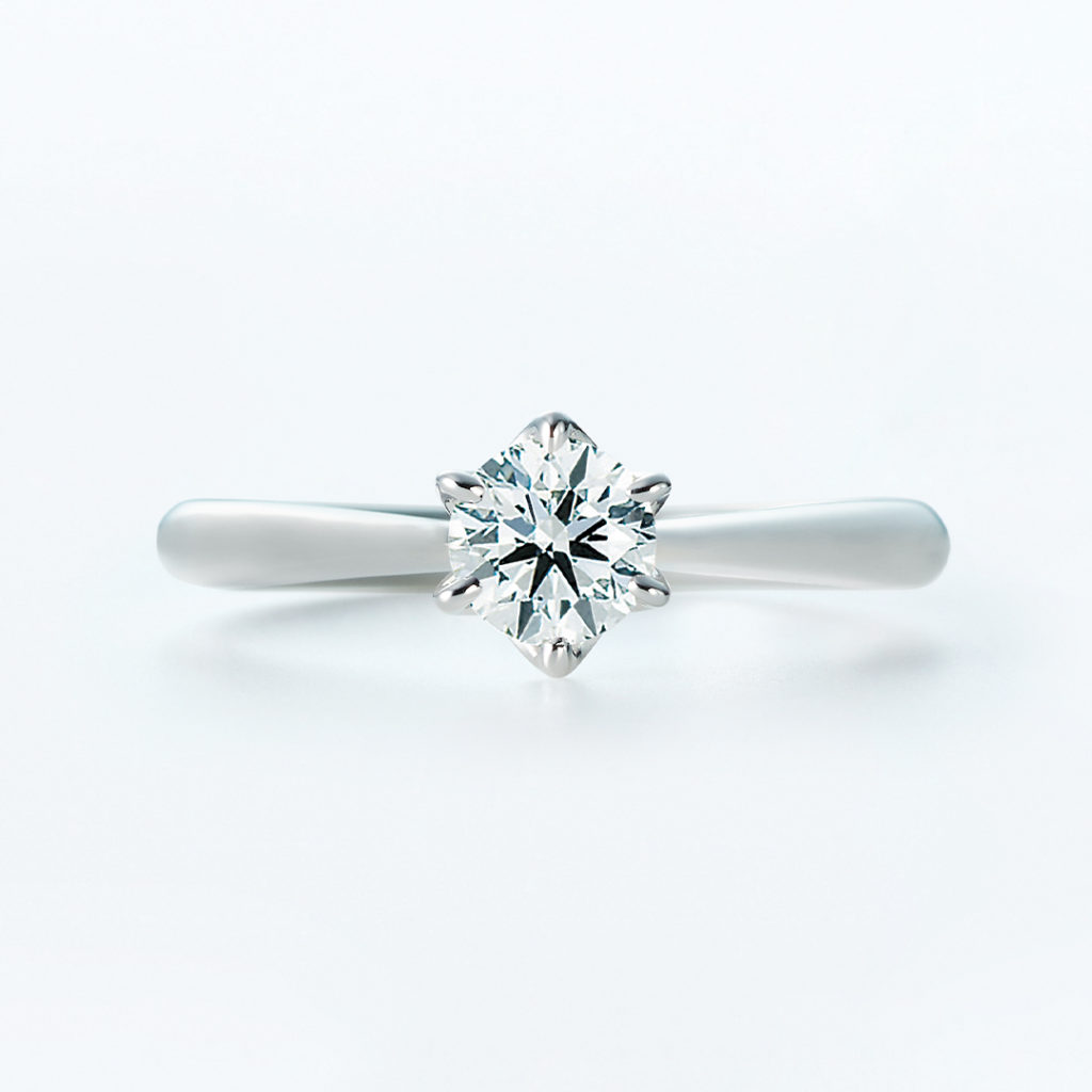 Trinity 婚約指輪 シンプル ストレート プラチナ