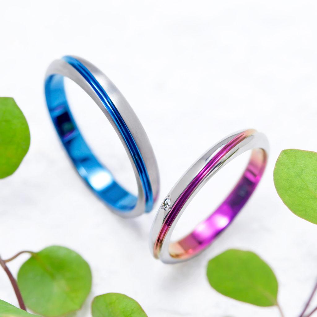 ECRIPT 結婚指輪 シンプル 個性派 ストレート ジルコニウム