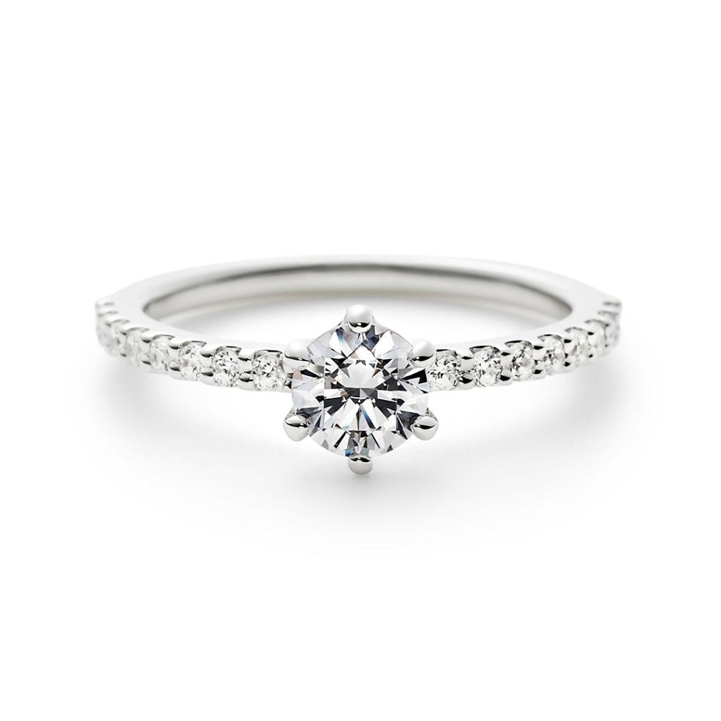 ETERNA 婚約指輪 シンプル エレガント 個性派 エタニティ プラチナ