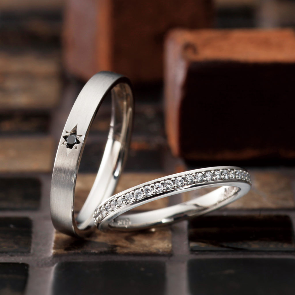 Espoir 結婚指輪 シンプル ストレート プラチナ パラジウム