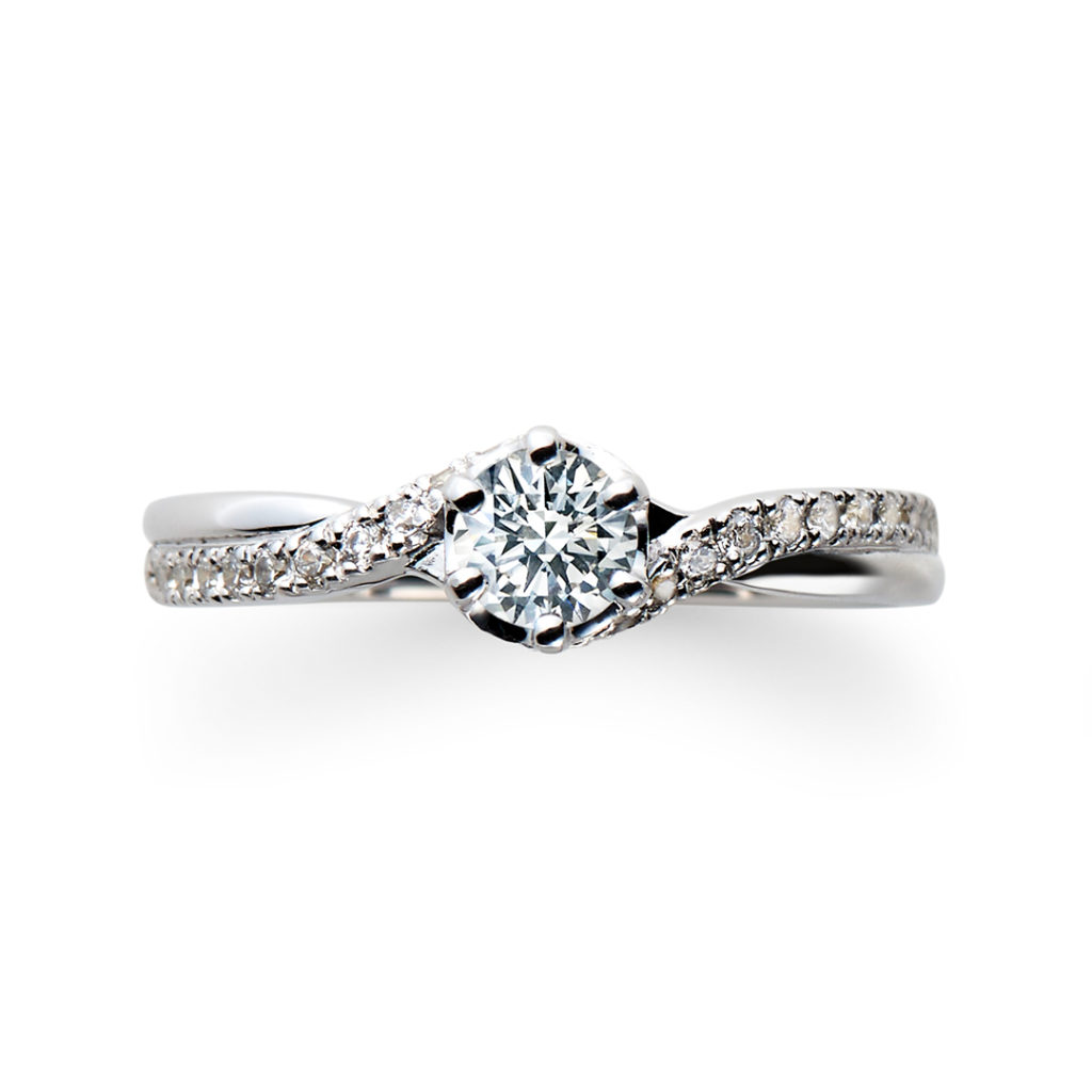 Eternite 婚約指輪 エレガント 個性派 ストレート プラチナ