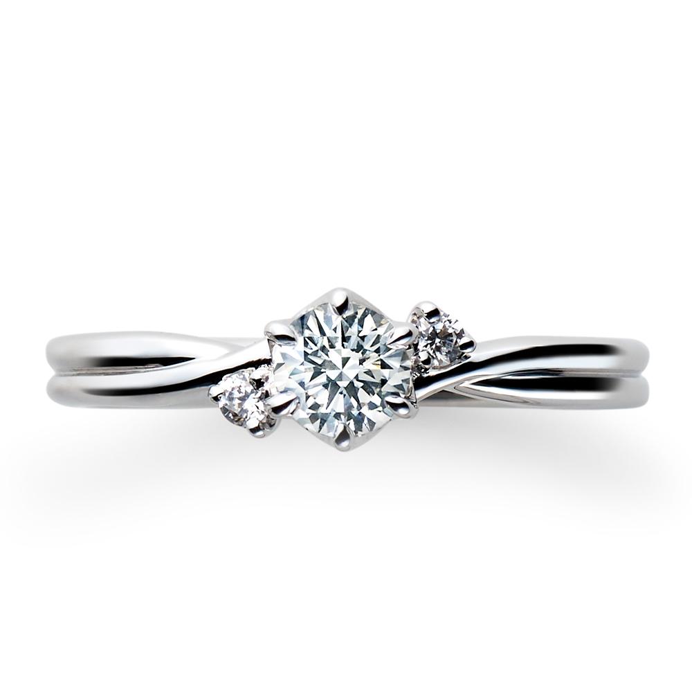 Eternite 婚約指輪 シンプル エレガント ストレート プラチナ