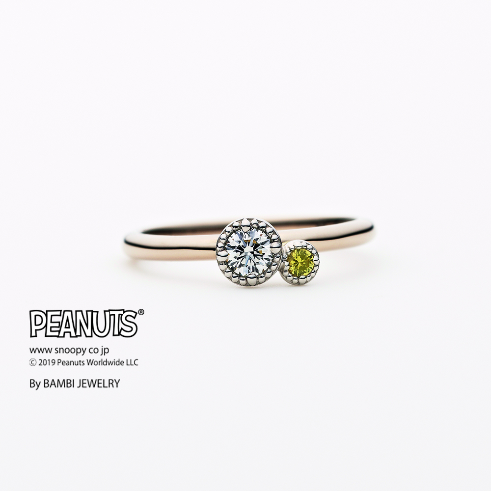 FOOT PRINT~フットプリント~ 婚約指輪 キュート 個性派 ストレート プラチナ イエローゴールド