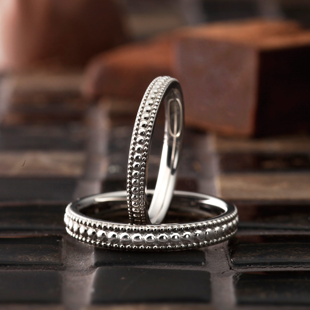 Fontaine 結婚指輪 アンティーク ストレート プラチナ パラジウム
