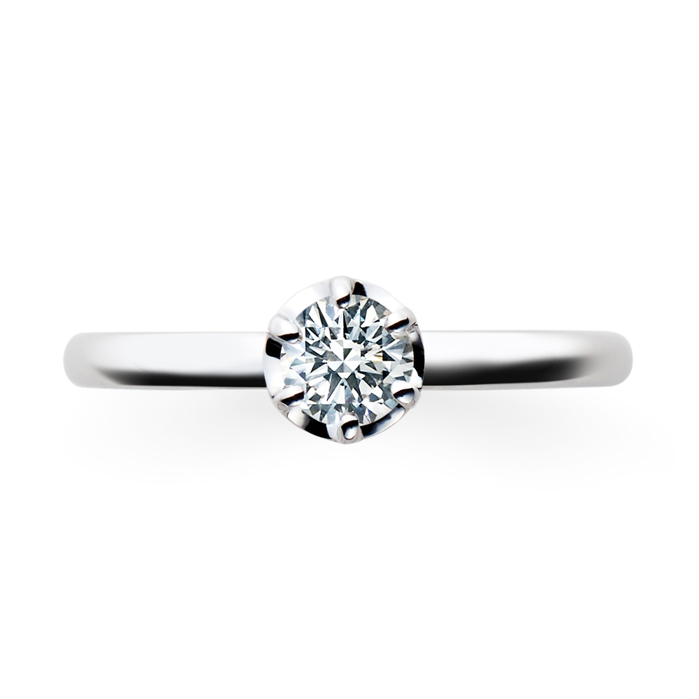 Futur 婚約指輪 シンプル ストレート プラチナ